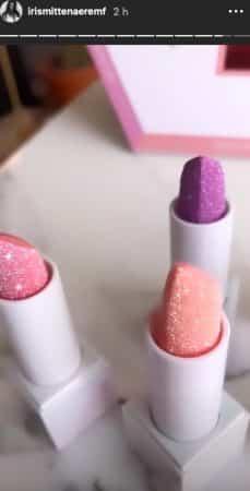 Iris Mittenaere adore les nouveaux rouges à lèvres Huda Beauty !
