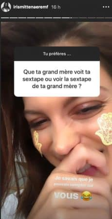 Iris Mittenaere hilare face à une question coquine de ses fans !