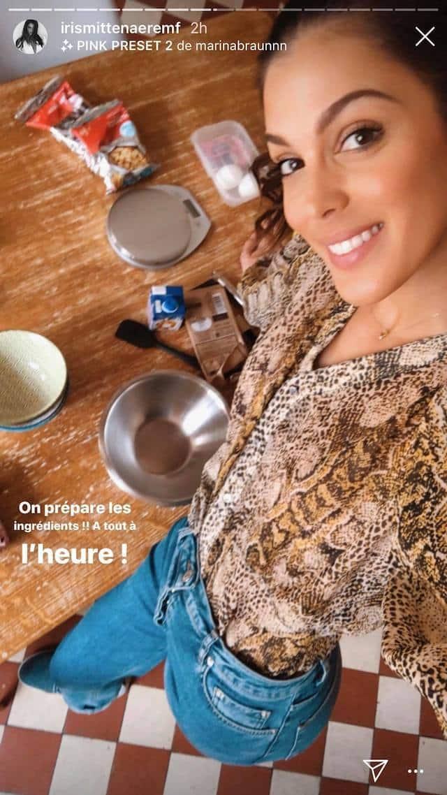 Iris Mittenaere s'amuse à cuisiner des cookies avec ses fans !