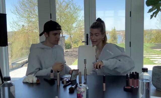 Justin Bieber maquille lui-même Hailey Baldwin et le résultat est étonnant !