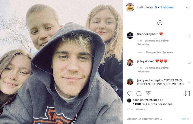 Justin Bieber profite du week-end pour retrouver ses frères et soeurs !