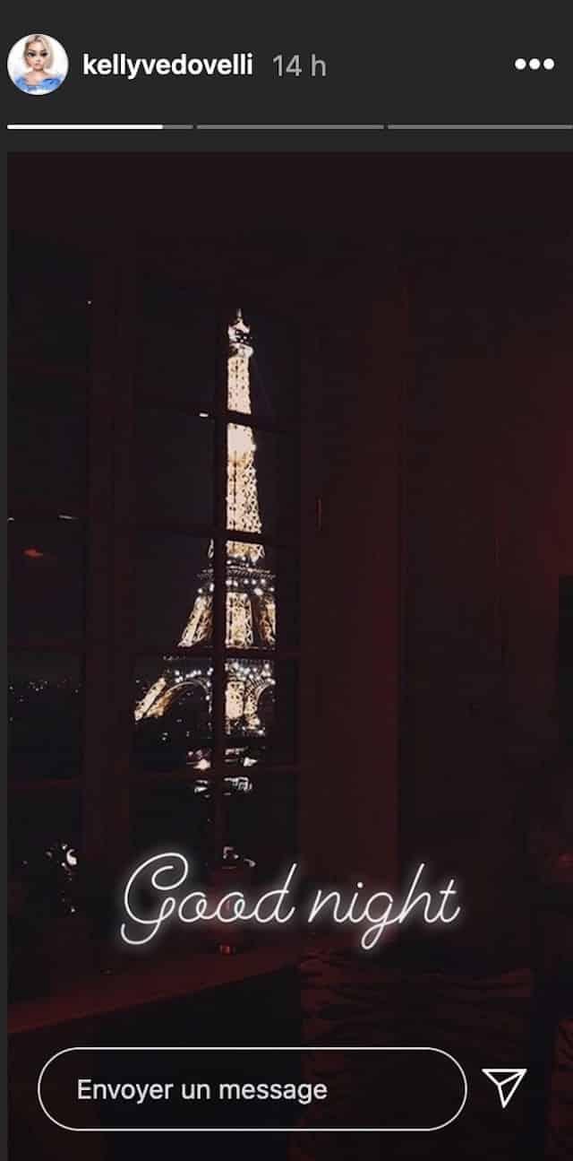 Kelly Vedovelli est confinée juste en face de la Tour Eiffel !