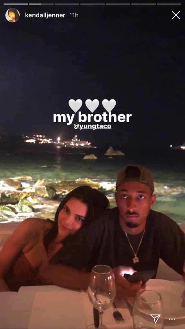 Kendall Jenner très proche de Yung Taco sur Instagram
