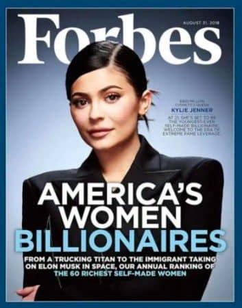 Kylie Jenner a menti et ne serait pas véritablement milliardaire !