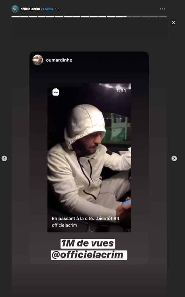 Lacrim: son freestyle inédit fait un million de vues sur Instagram !