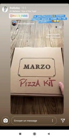 Laeticia Hallyday félicite Pascal Balland pour son idée de kit de pizzas !