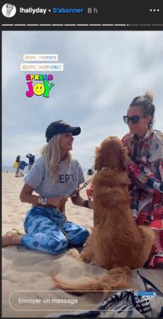 Laeticia Hallyday s'éclate à la plage avec son amie Christina !