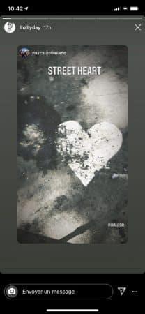 Laeticia Hallyday- son chéri Pascal Balland lui envoie un coeur 640