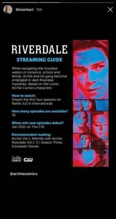 Lili Reinhart donne un guide pour regarder correctement Riverdale !