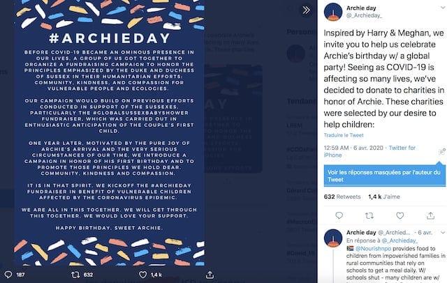 Meghan Markle: l'énorme don des fans pour l'anniversaire d'Archie !
