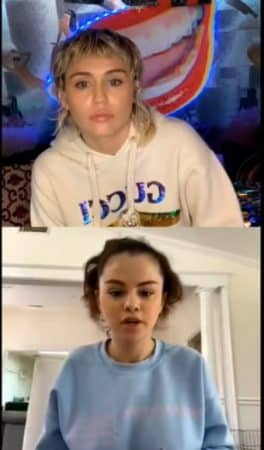 Selena et Miley sur Instagram
