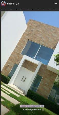 Nabilla est en adoration devant son immense villa à Dubaï !
