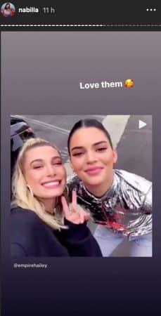 Nabilla est une grande fan d'Hailey Baldwin et de Kendall Jenner !