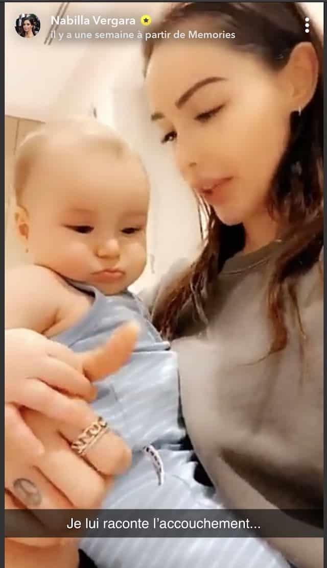 Nabilla raconte son accouchement mouvementé à son fils Milann !