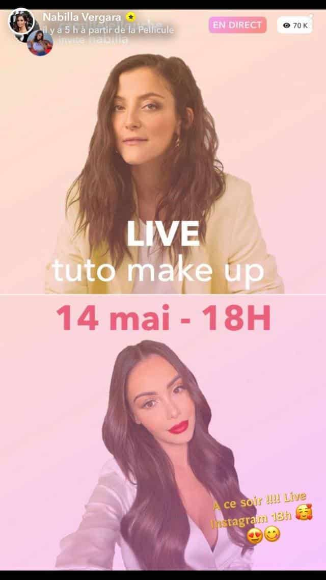 Nabilla: son tuto make up en live avec Camille Lellouche !