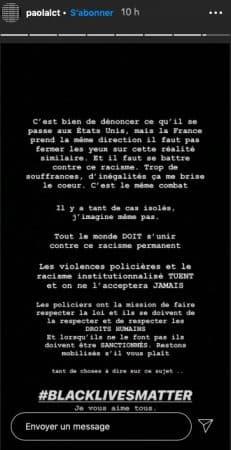 Paola Locatelli réagit sur les violences policières en France !