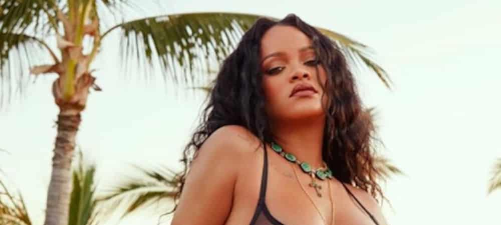 Rihanna sexy en sous-vêtements violets pour Savage X Fenty !