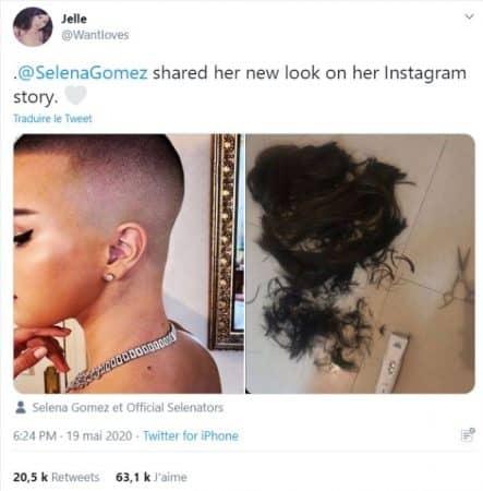 Selena Gomez a t-elle vraiment rasé ses cheveux sur Twitter ?