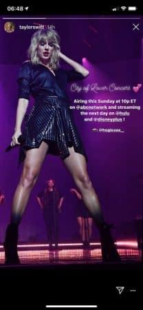 Taylor Swift-son concert City of Lover débarque sur Disney + 640