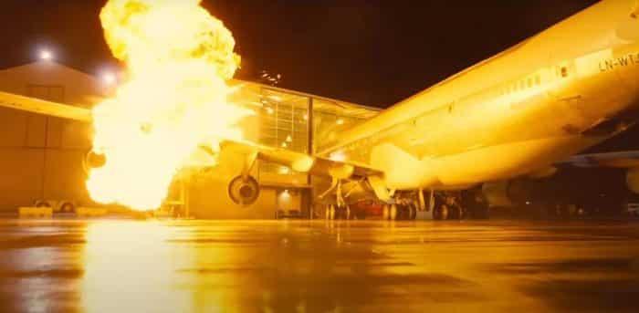 Tenet (Robert Pattinson): le crash d'avion s'est fait avec un vrai 474 !