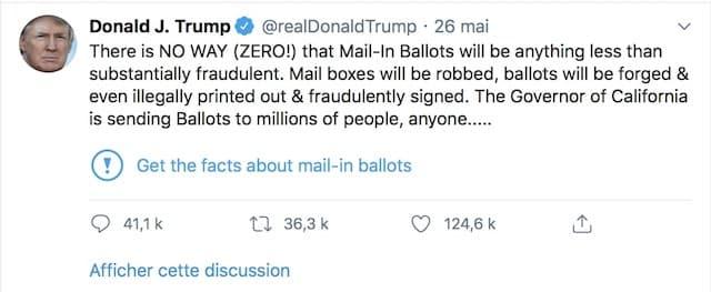 Twitter prend parti et signale un tweet de Donald Trump !