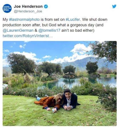 La photo du showrunner sur Twitter