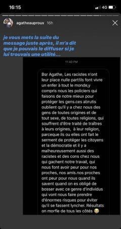Agathe Auproux appelle à l'unité en pleine affaire George Floyd !
