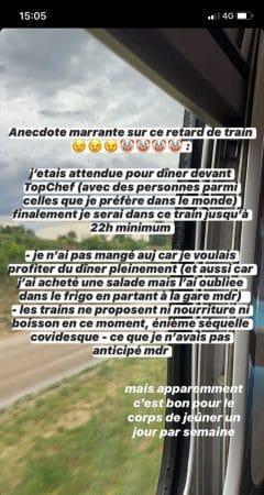 Agathe Auproux raconte son horrible voyage en TGV sur Instagram !