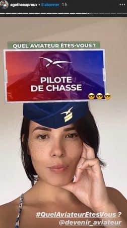 Agathe Auproux rêve de devenir pilote de chasse !
