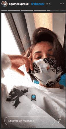 Agathe Auproux s'affiche masquée dans le train sur Instagram !