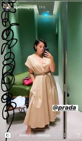 Agathe Auproux s'habille en Prada et dépense une fortune dans une robe 640