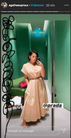 Agathe Auproux sublime dans une robe nude signée Prada !