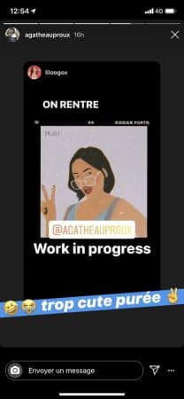 Agathe Auproux- un fan réalise un beau portrait d'elle sur Instagram 640