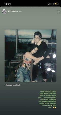 Bella Hadid: sa grand-mère décédée lui manque terriblement !