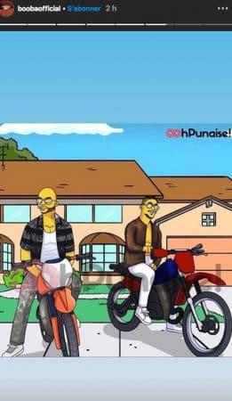 Booba et Maes se transforment en Simpson sur Instagram !