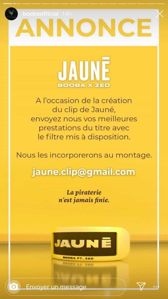 """Booba invite ses fans à participer au clip """"Jauné"""" !"""