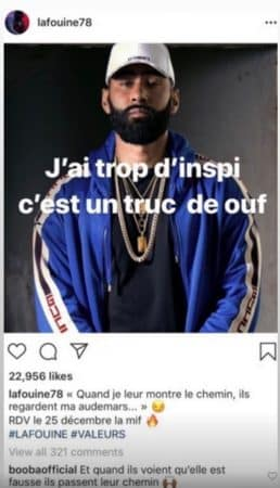 Booba ridiculise ses rivaux La Fouine et Rohff sur Instagram !
