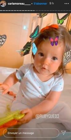 Carla Moreau: sa petite Ruby est de plus en plus craquante !