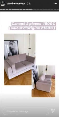 Caroline Receveur et Hugo Philip vendent tout leur mobilier sur Instagram !