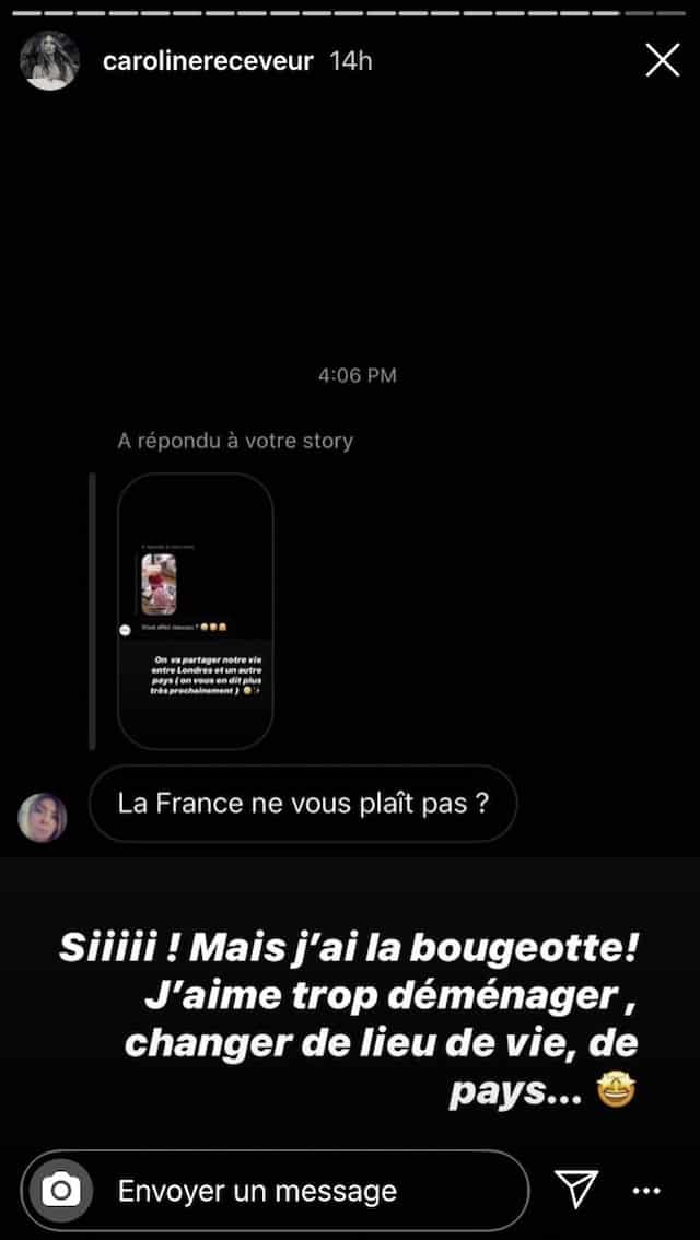 Caroline Receveur: ses abonnés pensent qu'elle n'aime pas la France !
