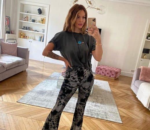 Caroline Receveur: son total look bleu fait sensation sur Instagram !