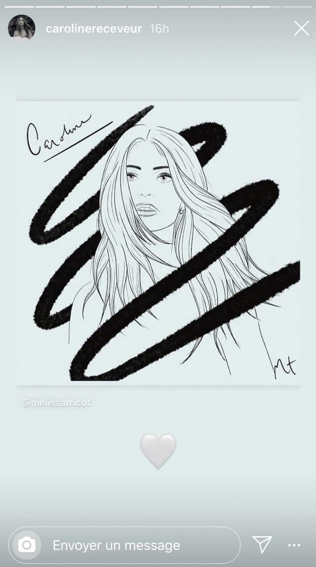Caroline Receveur: un fan dessine son portrait et le résultat est incroyable !