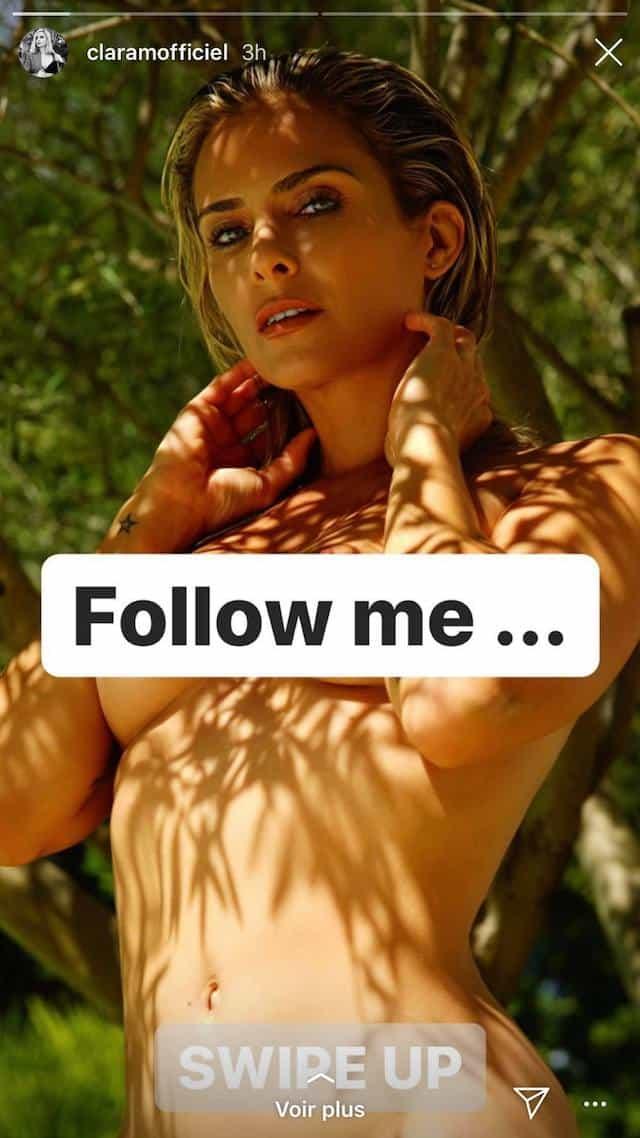Clara Morgane s'affiche topless sur Instagram !