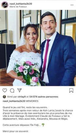 Claude (Koh-Lanta) a assisté au mariage de son amie Naoil !