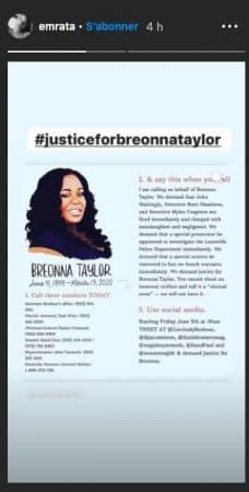 Emily Ratajkowski rend hommage à Breonna Taylor, tuée par la police !