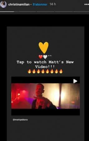 Instagram : Christina Milian valide le dernier clip de son chéri M Pokora !