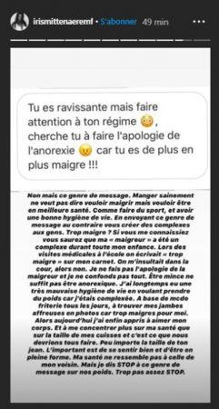 Iris Mittenaere dézingue ses haters en plein live Instagram