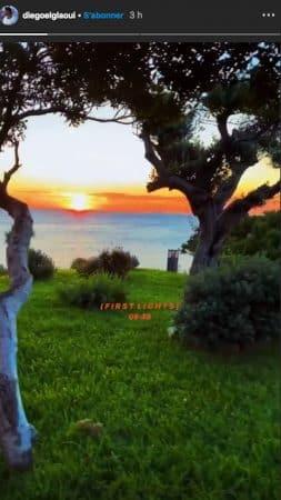 Iris Mittenaere et Diego assistent à un lever de soleil époustouflant !