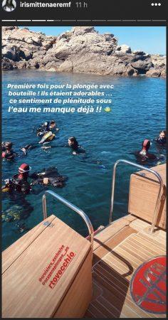 Iris Mittenaere fait son baptême de plongée dans une eau turquoise !