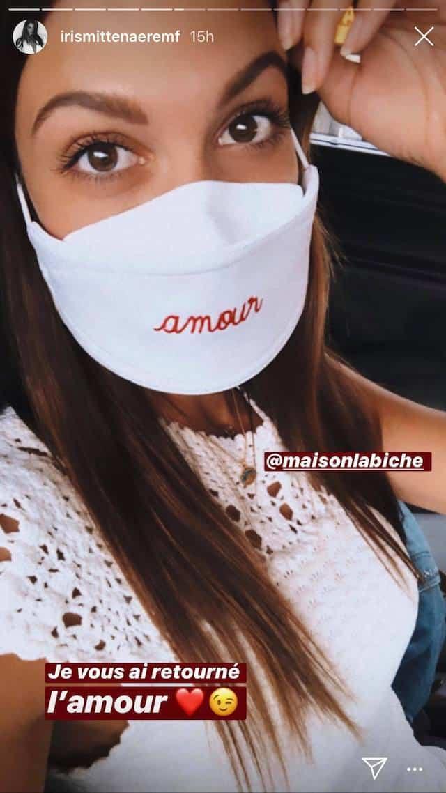 Iris Mittenaere pose avec un adorable masque sur Instagram !